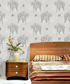 Arthouse Enchantment Wallpaper Willow Song Grey 664700 Full Roll