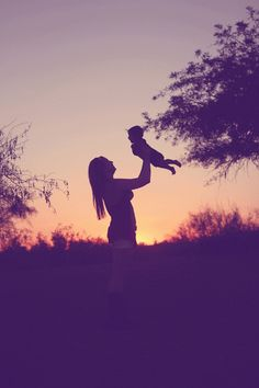 Muah!!! Mother and son at sunset.. this is a perfect shot for a baby that is a little fussy or wont stay still! This photo is actually a GIF - click thru to see it in action!