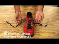 YouTube video on tying shoes. Best instructions I've seen, so far