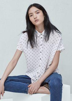 Printed flowy shirt   MANGO