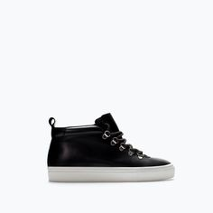 Image 1 of LEATHER HIGH-TOP SNEAKER from Zara