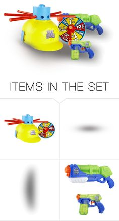 """A Water Blaster Gun Two Piece Set & a Wet Head Water Spraying Helmet Came Next…Also Relegated to Outside Only…the 3 Youngest Boys Agreed on an Outdoor Present Fest for the Morrow"" by maggie-johnston ❤ liked on Polyvore featuring art"