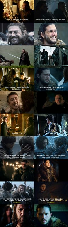 Jon Snow and Ned Stark Similarities on Game of Thrones...