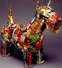 Prageeth Manohansa - Created from an amalgamation of scrap metal and junk yard finds, the animal sculptures by artist Prageeth Manohansa are massively impressive.