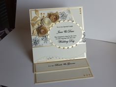 (Ref:B69) I'm amazed at the number of these cards I've made for people. I'm usually asked to make them in the wedding colours.