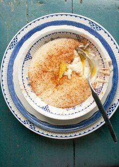 "Norwegian ""Rømmegrøt"", a delighfully smooth sour cream porridge..."