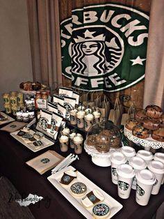 Starbucks Themed Birthday Party – Starbucks Themed Birthday Party – This image. 14th Birthday Party Ideas, Starbucks Birthday Party, Birthday Sleepover Ideas, Birthday Goals, 12th Birthday, Coffee Themed Party, Party Themes For Teenagers, Apps, Birthdays