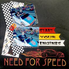 Got Moxxie?  Need for Speed by Muse Amy  #moxxie #racing #scrapbook