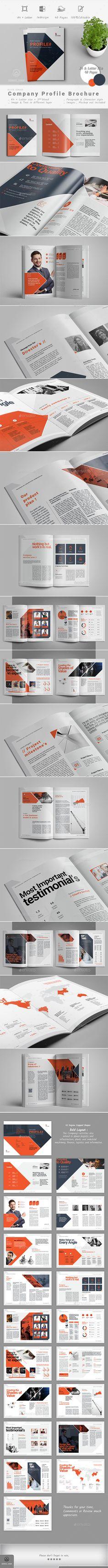 #Company #Profile - Corporate #Brochures Download here: https://graphicriver.net/item/company-profile/19300562?ref=alena994