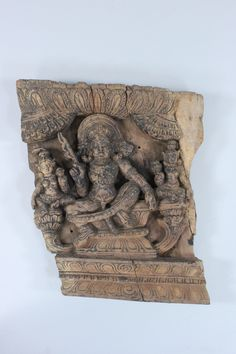 A Carved Wood Relief Panel depicting Subrahmanya, Tamil Nadu, South India, 19th century