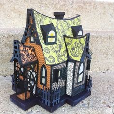 Haunted House using svg files from SVG Cuts.