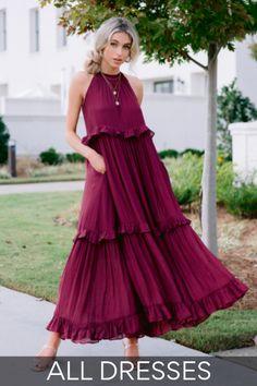 Pink Floral Maxi Dress, White Eyelet Dress, Red Midi Dress, Shop Red Dress, Sexy Little Black Dresses, Maxi Dress Wedding, Tiered Skirts, Short Sleeve Dresses, Lace Dresses
