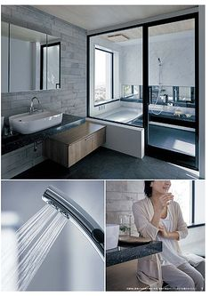 Lクラス バスルーム カタログ | WEBカタログ | Panasonic Future House, My House, Japanese Bathroom, Japanese House, Glass Shower, House Goals, Bathtub, New Homes, Home And Garden
