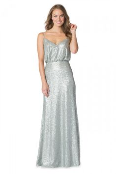 Bari Jay - 1624   Bridesmaids & Special Occasion at Jaehee Bridal Atelier    #sheath #vneck #straps #sequins #bridesmaid #bridesmaids #bridesmaiddresses