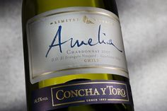 This distinctive and elegant Chilean #Chardonnay expresses the unique character of El Triángulo vineyard in the valley of Casablanca. After discovering the great potential of the Casablanca valley, Concha y Toro launched the Amelia brand in 1993. Amelia was the first ultra-premium Chardonnay from #Chile and the iconic Concha y Toro white #wine. Casablanca, Wine Cellar, Whiskey Bottle, Ultra Premium, Wine Bottles, Drinks, White Wine, Whisky, Amelia