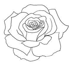 Simple Tattoo Flash Outlines Simple rose tattoo designs