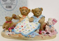 "CHERISHED TEDDIES MIA & PAULETTE QUILTING ""SOMETHING SEW SPECIAL"" 2003 #112546"