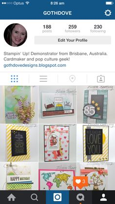 Follow me on Instagram. #stampinup #stampinupaustralia #stampinupsouthpacific #gothdovedesigns #instagram #cardmaking #birthday #cards