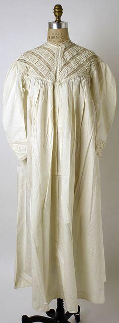 Nightgown  Date: 1862–67 Culture: American Medium: [no medium available]  Accession Number: C.I.37.41.1  Metropolitan Museum of Art