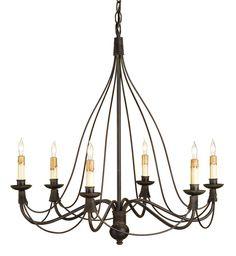 Currey & Company - 9421 - Trademark 6 Light Chandelier with Blacksmith Finish