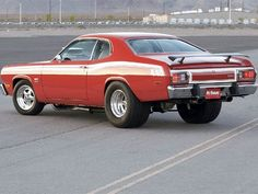 Plymouth Duster ... except mine had a hard white top... don't remember what year it was
