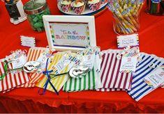 Rainbow Theme 2nd Birthday Party   CatchMyParty.com