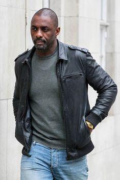 "Idris Elba seen leaving BBC TV studios after promoting his latest film ""The Jungle Book"""