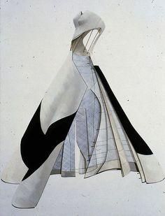 Charles James - Couturier - Esquisees et Croquis - Robe de Soirée - Soie - 1953
