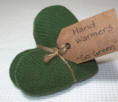 Hand Warmers Go Green Upcycled Sweater by IdasBrooklynBarn on Etsy, $13.00