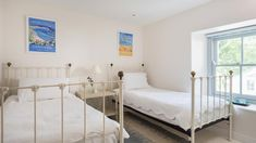Beachy themed bedrooms for little ones at Alsia Mill, a luxury self-catering family holiday home in Cornwall #kidsbedroom #beach #white #peace #fun #cornwall