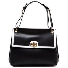 buyinvite.com.au - Anna Luchini Contrast Leather Shoulder Bag Black♥🌸♥