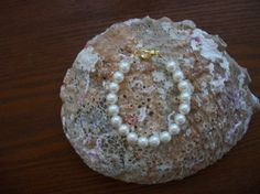 Your place to buy and sell all things handmade Bracelet Sizes, Pearl Bracelet, Swarovski Crystal Beads, Organza Bags, Beading, Jewelry Making, Pearls, Flowers, Pink