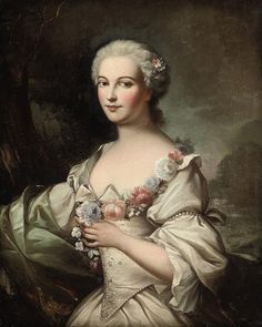 Attributed to Charles-Joseph Natoire (Nimes 1700-1777 Castel Gandolfo) | Portrait of a lady.