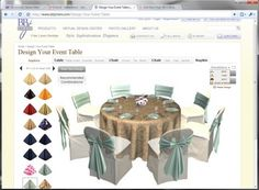 interactive website to design your own wedding table