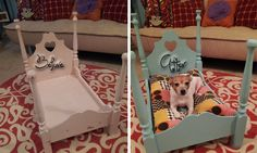 A Pet Bed fit for a Princess! Simple DIY - just takes paint, and a little determination!