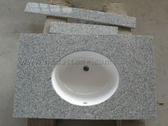 Granite Bathroom Vanity Tops  G603, also called Salt&Pebble granite, is a white granite color with grey Chinese granite color .The granite products of G603 salt&pebble include