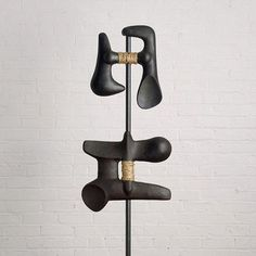 Isamu Noguchi, 'Calligraphics' (detail), 1957; a sculptural ode to Shodō ('Way of Writing,' or Japanese calligraphy) in iron, wood, rope and metal. #NationalHandwritingDay [Photo: Kevin Noble/©The Isamu Noguchi Foundation and Garden Museum/Artists Rights Society (ARS)]