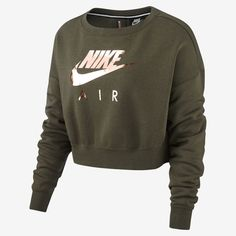 Air Rally Women's Metallic Crew – Asien Cute Workout Outfits, Cute Teen Outfits, Sporty Outfits, Nike Outfits, Teen Fashion Outfits, Athletic Outfits, Swag Outfits, Outfits For Teens, Sweater Outfits