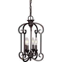 Talista William 4-Light Antique Bronze Chandelier-CLI-FRT7000-04-32 - The Home Depot