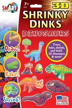 Shrinky Dinks. Available in Dinosaur, Horse and Pony Show, USS Titanic, Fairy Princess, and Butterflies.