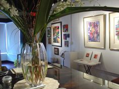 It is a very cozy and classy Art Gallery in the Little Havana Art District