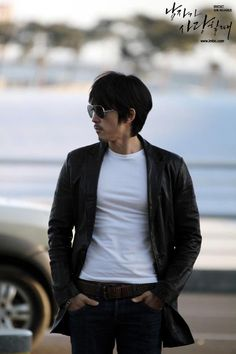 "Song Seung Heon from Korean drama ""When a Man Loves."" I love how his mustache gets longer whenever he's being ""dangerous""."