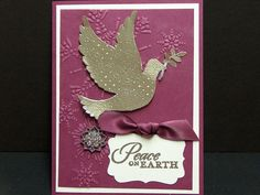 3D handmade Christmas card silver embossed by TheLanguageofPaper, $4.50