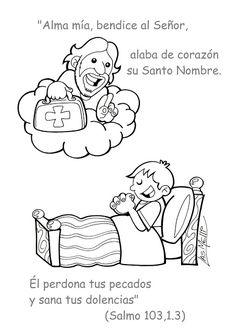 El Rincón de las Melli: SALMO DIBUJADO: Alma mía, bendice al Señor... Sunday School Crafts, Bible For Kids, Kids Church, God Is Good, Printable Coloring Pages, Crafts For Kids, Activities, Comics, Children