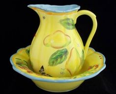 Department 56 Summer Bowl and Pitcher