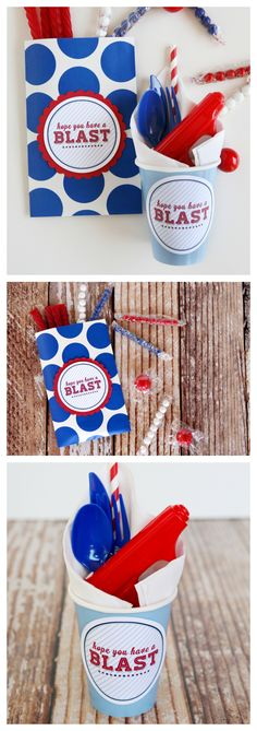 of July Party Printables Patriotic Party, 4th Of July Party, Fourth Of July, Patriotic Crafts, July Crafts, Holiday Crafts, Holiday Fun, Holiday Ideas, Holiday Decor