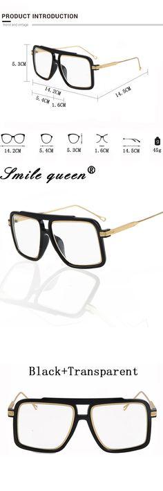 Square Flat Top Glasses Frame Famous Brand Designer Glasses Men 18K Gold Metal Frame Mirror Clear Glasses Lentes Opticos Mujer