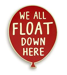 We All Float Down Here Balloon Embroidered Iron on Patch for T Shirt Cap Backpack