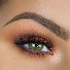 Orange Brown Eye Make-up Tania Waller - Beauty - Eye-Makeup Eye Makeup Cut Crease, Eye Makeup Art, Eye Makeup Tips, Eyebrow Makeup, Eyeliner, Makeup Ideas, Beauty Makeup, Makeup Blog, Makeup Tutorials