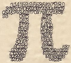 Pieces of Pi | Urban Threads: Unique and Awesome Embroidery Designs